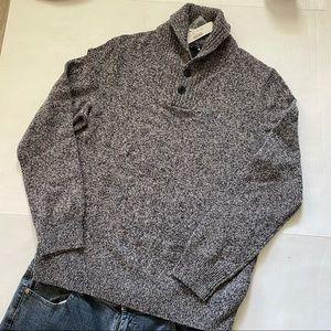 J. Crew Lambswool Shawl Collar Sweater